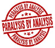 Paralysis by analysis stamp. Paralysis by analysis grunge vintage stamp isolated on white background. paralysis by analysis. sign stock illustration