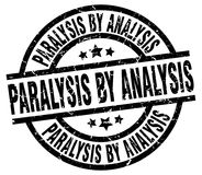 Paralysis by analysis stamp. Paralysis by analysis grunge vintage stamp isolated on white background. paralysis by analysis. sign royalty free illustration