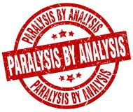 Paralysis by analysis stamp. Paralysis by analysis grunge vintage stamp isolated on white background. paralysis by analysis. sign vector illustration