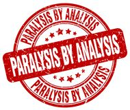 Paralysis by analysis red stamp. Paralysis by analysis red grunge round stamp isolated on white background stock illustration