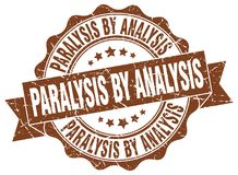 Paralysis by analysis seal. stamp. Paralysis by analysis round seal isolated on white background. paralysis by analysis royalty free illustration