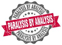 Paralysis by analysis seal. stamp. Paralysis by analysis round seal isolated on white background. paralysis by analysis stock illustration