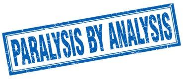 Paralysis by analysis stamp. Paralysis by analysis square grunge stamp. paralysis by analysis sign. paralysis by analysis royalty free illustration