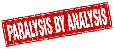 Paralysis by analysis stamp. Paralysis by analysis square grunge stamp. paralysis by analysis sign. paralysis by analysis stock illustration