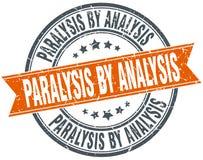 Paralysis by analysis stamp. Paralysis by analysis round grunge ribbon stamp isolated on white background stock illustration