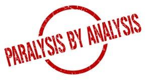 Paralysis by analysis stamp. Paralysis by analysis round grunge stamp. paralysis by analysis sign. paralysis by analysis vector illustration