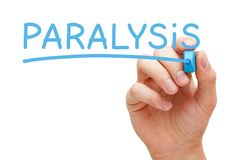 Paralysis Handwritten With Blue Marker stock photo