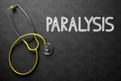 Paralysis Handwritten on Chalkboard. 3D Illustration. Royalty Free Stock Images