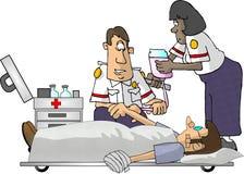 Paramédicos de EMT stock de ilustración