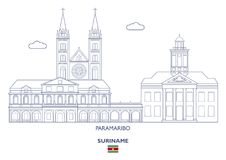 Paramaribo City Skyline, Suriname Royalty Free Stock Images
