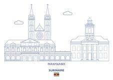 Paramaribo-Stadt-Skyline, Surinam Lizenzfreie Stockbilder