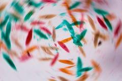 Parameciumcaudatum under mikroskopet - abstrakt begrepp formar i Co Fotografering för Bildbyråer