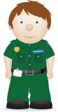 Paramedic. Vector character illustration of a smiling paramedic Royalty Free Stock Images