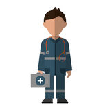 Paramedic Character Uniform Stethoscope Kit First Aid Emergency Stock Photos