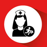 Paramedic first aid hospital building icon. Illustration Stock Images