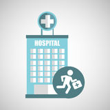 Paramedic first aid hospital building icon. Illustration Stock Photos