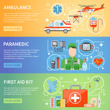 Paramedic Horizontal Banners Royalty Free Stock Photos