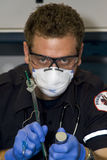 Paramedic intubating Stock Photos