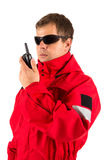Paramedic man isolated on white Royalty Free Stock Images