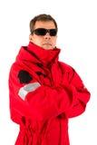 Paramedic man isolated on white Royalty Free Stock Image