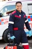 Paramedic portable equipment Royalty Free Stock Image