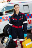 Paramedic portrable devices Royalty Free Stock Images