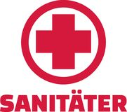 Paramedic with red cross. Vector Royalty Free Stock Photo