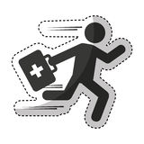 Paramedic running isolated icon Royalty Free Stock Image