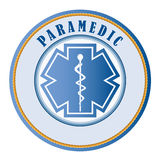 Paramedic seal or patch Royalty Free Stock Image