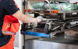 Paramedic with the stretcher Royalty Free Stock Photo