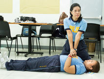 Paramedic Training Stock Photo