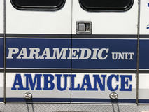Paramedic Unit - Ambulance. Paramedic unit rear door royalty free stock image