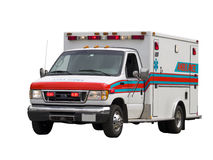 Paramedic Van Isolated. A close up on a paramedic van isolated on a white background Royalty Free Stock Image