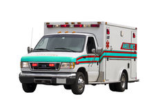 Paramedic Van Isolated Royalty Free Stock Images