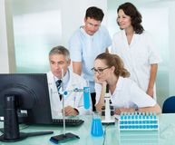 Paramedical or technical staff in a lab Royalty Free Stock Photo