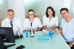 Paramedical or technical staff in a lab Royalty Free Stock Images