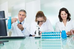 Paramedical or technical staff in a lab Royalty Free Stock Photography