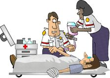 Paramedici EMT stock illustratie