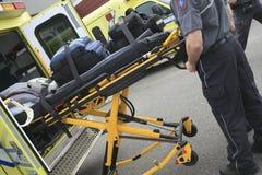 Paramedicinsk anställd Arkivfoton