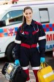Paramedicinska portrable apparater royaltyfria bilder