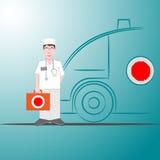 Paramedico accettato la sfida royalty illustrazione gratis