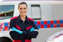 Paramedico femminile fotografia stock