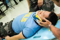 Paramedico Training Immagini Stock