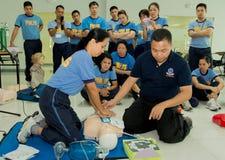 Paramedico Training Fotografia Stock
