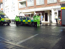 Paramedics at accident swanage dorset Stock Photo