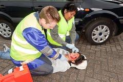 Paramedics in action stock photos