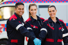 Paramedics hands together Stock Images