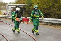 Paramedics at a major incident. royalty free stock image