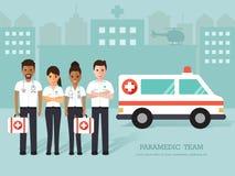 Paramedics, medical staff Stock Images