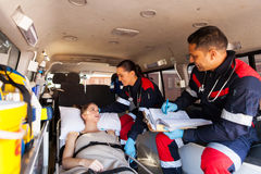 Paramedics patient ambulance Royalty Free Stock Image